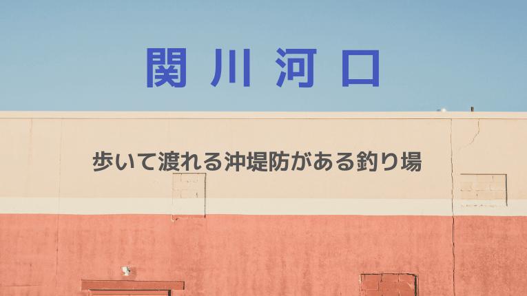 関川河口:歩いて渡れる沖堤防がある釣り場