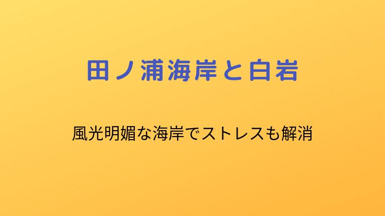 田ノ浦海岸と白岩:風光明媚な海岸でストレスも解消