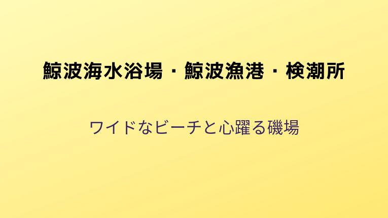 鯨波海水浴場・鯨波漁港・検潮所